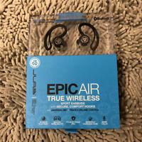 JLab Epic Air True Wireless Bluetooth Sport Earbuds Headphones Black - New