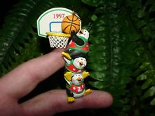 1997 Hoopy Holidays - American Greetings Christmas ornament -penguins basketball