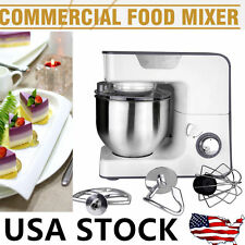 Professional 1000W Heavy Duty Powerful Motor Stand Mixer Silver 5.5L Big Size