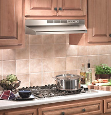 """Broan 30"""" Under Cabinet Ductless Non-Ducted Range Hood Vent Fan Stove Stainless"""