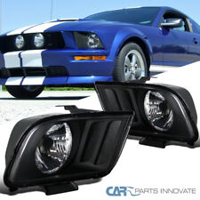 05 09 Ford Mustang Gt Replacement Black Headlights Front Driving Head Lamps Pair Fits 2007