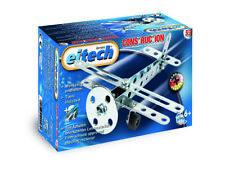 Eitech Meccano Metal Jeu de Construction Basic Avion Biplan Children Noël Enfant