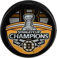 Boston Bruins Unsigned 2011 Stanley Cup Champions Logo Hockey Puck - Fanatics