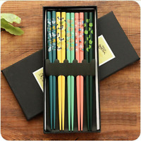 Non-slip Food Chop Stick Reusable Wooden Japanese Style Chopstick Sushi Flatware