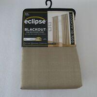 Eclipse Blackout Samara Latte 84-Inch Rod Pocket Window Curtain 1 Panel
