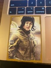 2017 Star Wars The Last Jedi Series One # 2/25 Portraits Gold #CP3 Rose Tico