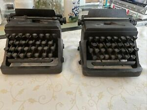 Pair of Restoration Hardware Cast Iron Typewriter Bookends