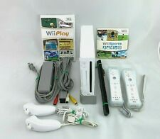 Nintendo Wii Bundle with Wii Sports and Wii Play TESTED AND CLEANED!