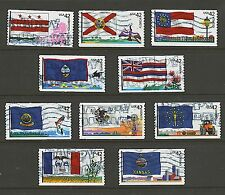 Scott #4283-92 Used Set of 10, Flags of Our Nation Set #2