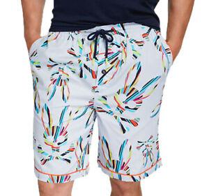 Psycho Bunny Men's Mist Grenada All Over Bunny Cotton Lounge Shorts
