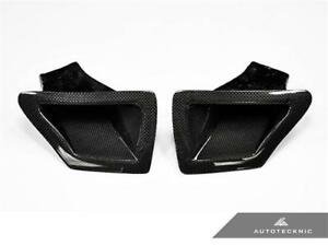 AutoTecknic Dry Carbon Fiber Dual Air Ducts | Fits Nissan Z34 370Z