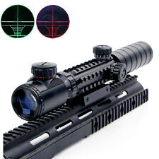 3-9X32EG Crosshair Optics Green/Red Hunting Rifle Scope With 20mm Rail Mount
