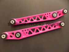 FUNCTION7 BILLET LCA LOWER CONTROL ARMS PINK FOR HONDA CIVIC 1996-2000 EK EK9