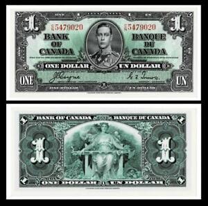 1937 Canada $1 Dollar Banknote<< ~BRIGHT & CRISP ~UNCIRCULATED