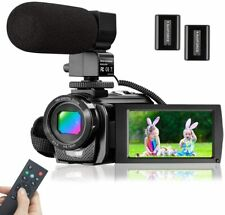 Video Camera Camcorder Microphone HD 1080P 24MP Digital Vlog YouTube 16 X Zoom