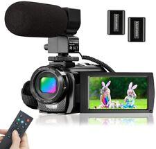 Video Camera Camcorder Microphone HD 1080P 24MP Digital Vlog YouTube 16 X Zoom