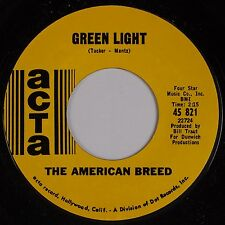 THE AMERICAN BREED: Green Light '68 ACTA Garage Psych 45 Super NM-