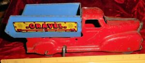 Marx Pressed Steel Gravel - Dump Truck Wind-up Pressed Steel Works !