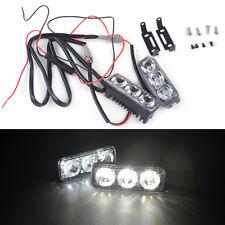2pcs 3 LED 12V High Power White DRL Day Running Light Bright Fog Lamp Car Auto