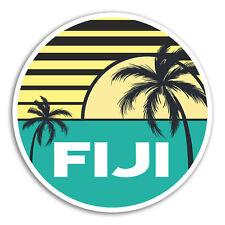 2 x 10cm Fiji Vinyl Stickers - Island Cool Travel Sticker Laptop Luggage #18052