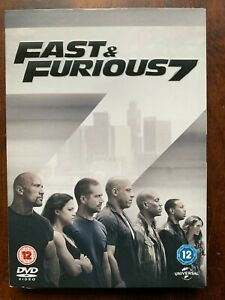 Fast and Furious 7 DVD 2015 Action Car Chase Movie w/ Paul Walker w/ Slipcover