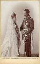 Feodora, Prinzessin von Sachsen Meiningen & Heinrich III Vintage silver print.