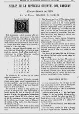 URUGUAY. Philatelic papers by Ricardo Eliçabe (See description below).
