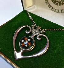 VINTAGE STERLING SILVER SCOTTISH CAITHNESS GLASS LUCKENBOOTH PENDANT (1971/72)