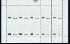 More details for namibia 1997 definitives overprinted 2005 sg1005 offset sheetlet of 10 mnh