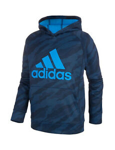 New Big Kids Boys Adidas Athletic Gym Hoodie Hooded Sweatshirt Top Youth Camo