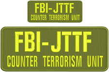 FBI JTTF Counter Terrorism Unit embroidery patches 4x10 and 2x5 hook