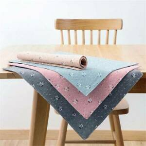 Table Accessories Placemat Kitchen Accessories Cup Holder Cloth Bowl Fabric BT