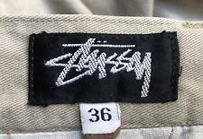 STUSSY Short pants 90s Vintage Beige Original Super Rare Size 36 L/XL stüssy Top