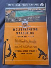 More details for 1959 fa charity shield programme wolverhampton wanderers v nottingham forest