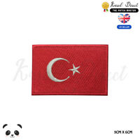 Turkey National Flag Embroidered Iron On Sew On Patch Badge