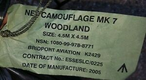 BRITISH ARMY ISSUED LARGE SIZE CAMOUFLAGE NET - 4.5 X 4.5 M - NEW