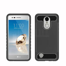 For LG Aristo/Fortune/Phoenix 3 Hybrid Armor Case Shockproof Rubber Phone Cover