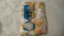 "Vintage Plastic Drapes, 3-Pc, Orange,Gold,Pink Floral, 108"", 87"" Long"