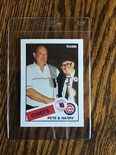 HARRY CARAY - PETE VAN WEIREN - 1988 Kodak McDonalds - Peoria Chiefs - CUBS #8.