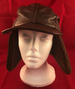 Adventure Bound Leather Aviator Trapper Hat, Youth, Large