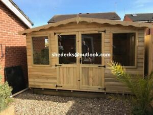 CONTEMPORARY SUMMER HOUSE SHED LOG CABIN TANALISED HEAVY DUTY GARDEN OFFICE