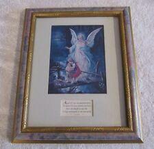 Angel of God Decorative Framed Prayer Christian Art with Children