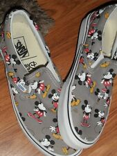 men 9.5  women 11 ~  Disney Mickey Mouse  ~  Vans shoes  EUC