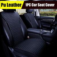 1X Black PU Leather Car Front Seat Cover diamond lattice Universal Cushion Pad