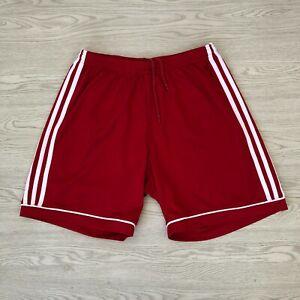 Adidas Climalite Men's Sports Shorts - Red - Medium M - Gym Running
