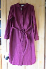 Boden Freya Shirt Dress UK 14 R (US 10 EU 40 42) Burgundy