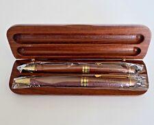 John Deere Wood Pen & Pencil Set + Wooden Clamshell Case Achieving Excellence