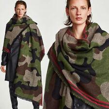 Mode Hommes Femmes Unisexe Hiver Chaud Souple Cape Écharpe Camouflage Pashmina