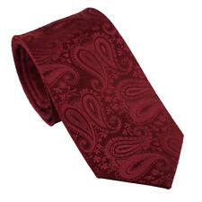 Coachella Men's Ties Burgundy Solid Color Paisley Necktie Normal Formal Tie