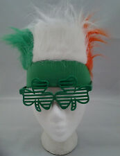 Green White Orange Fur Headband St Paddy's Day St Patricks Teen to Adult Size